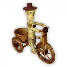 Vessző kaspó biciklis Natúr(világos) L 65x30x60cm