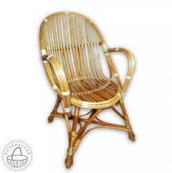 Fonott vessző karfás szék