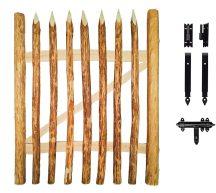 Mogyorófa kiskapu (zárakkal, zsanérokkal)