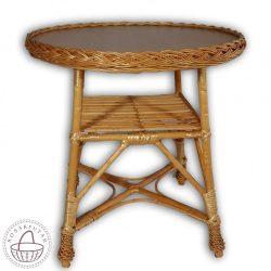 Fonott kerek asztal 85x60cm