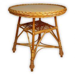 Fonott kerek asztal