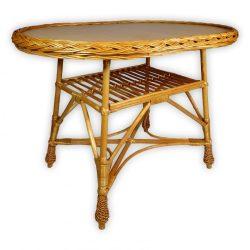 Fonott ovális asztal több méretben