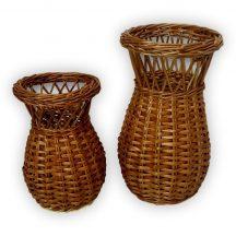Fonott virágtartó váza több méretben