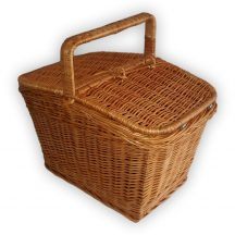 Piknik kosár szögletes mini 25x18x16/26cm