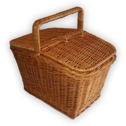 Piknik kosár szögletes mini 25x19x19/26cm