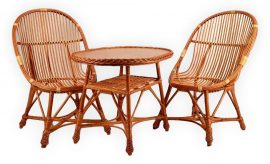 Vessző fotel garnitúra választható asztallal