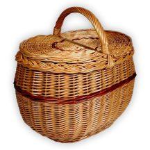 Fonott piknik kosár 37x27x27(37)cm