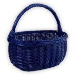 Bevásárló kosár kék/bordó/fehér színben 43x33x23/42cm