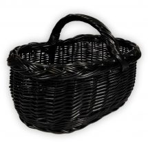Fekete bevásárlókosár 45x30x23(32)cm