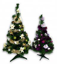 Műfenyő Karácsonyfa ( díszítve, led fényfüzérrel )