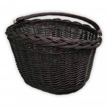 Fekete kerékpár kosár