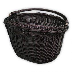 Fekete kerékpár kosár 40x30x23/28cm