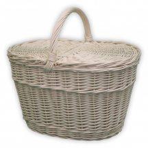 Fehér piknik kosár 45x32x24/43