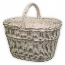 Fehér piknik kosár 42x30x24/43