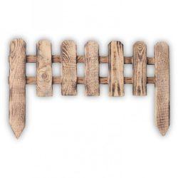 Égetett fa ágyásszegély 20x60cm