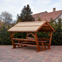 Rönkfa bútor nádtetővel vagy zsindely tetővel
