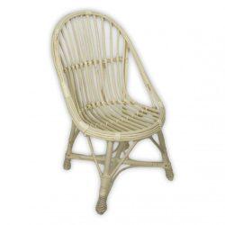 Fehér, fonott vessző fotel