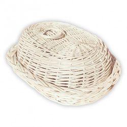 Fehér kenyértartó kosár 42x32x12cm